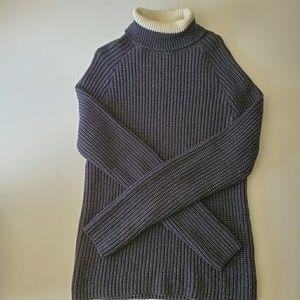 Zara man navy blue knit turtle neck sweater M
